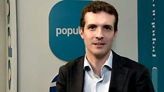 Los desayunos de TVE - Pablo Casado, nuevo vicesecretario de Comunicación del Partido Popular
