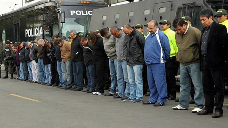 Los narcotraficantes colombianos se están entregando a las autoridades estadounidenses