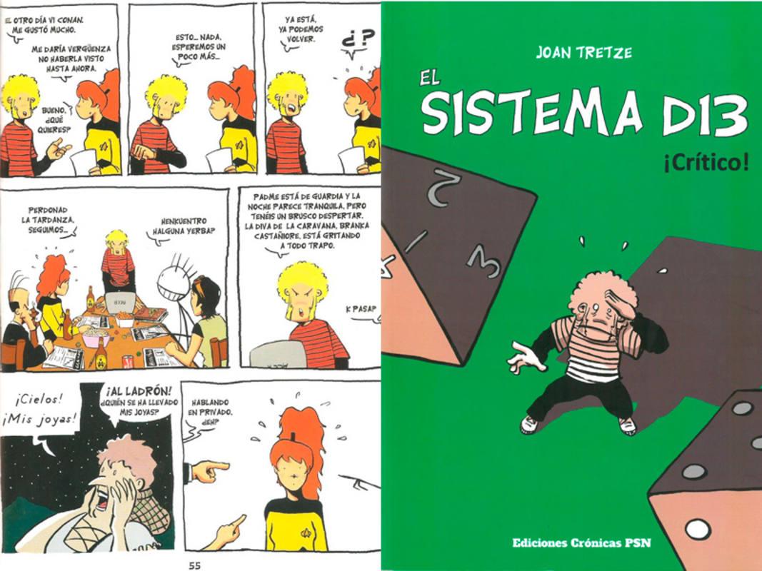 Página y portada de 'El sistema D13'
