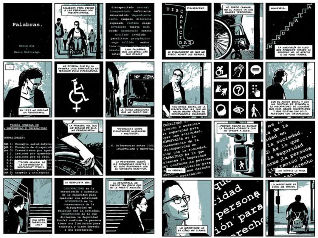 Páginas de Mauro Entrialgo y David Aja para 'Teresa Perales Cómics'