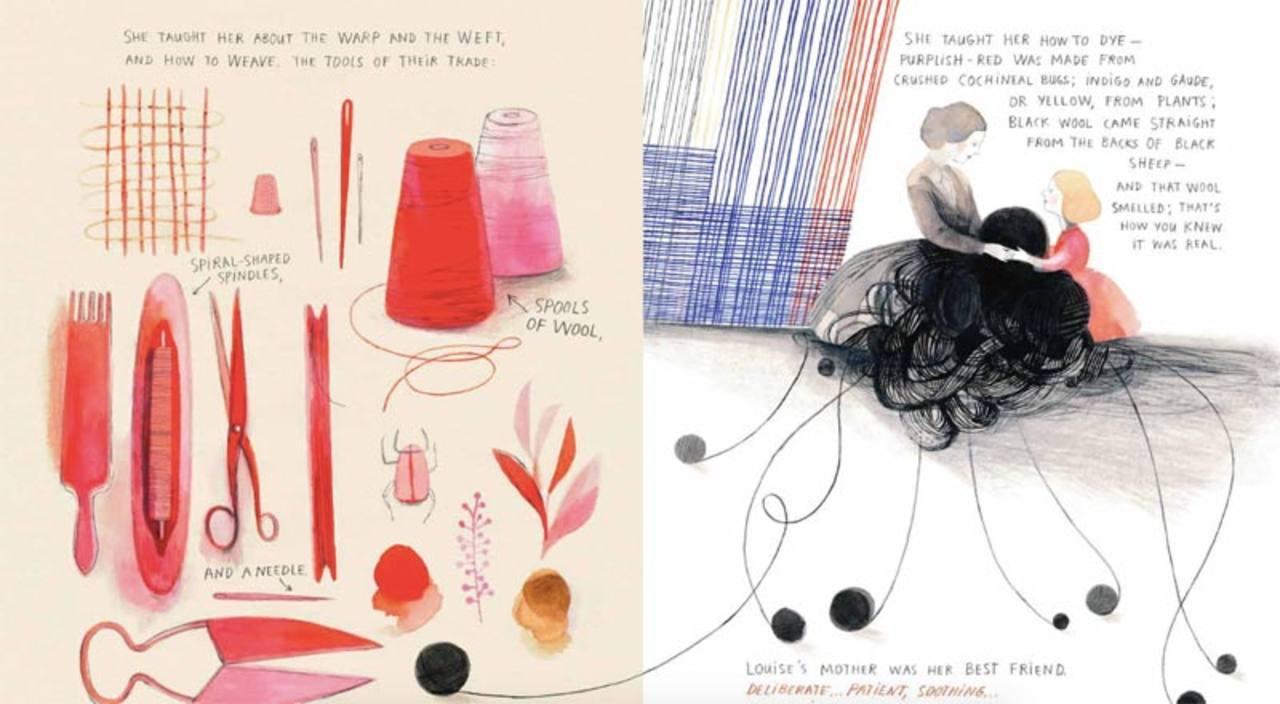 Páginas de 'Nana de tela. La vida tejida de Louise Bourgeois'
