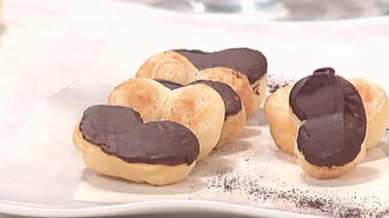Cocina con Sergio: Escuela de pastelería: Palmeritas de hojaldre y chocolate