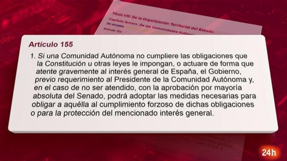Ir al VideoParlamento - Conoce el parlamento - Artículo 155 de la Constitución - 14/10/2017
