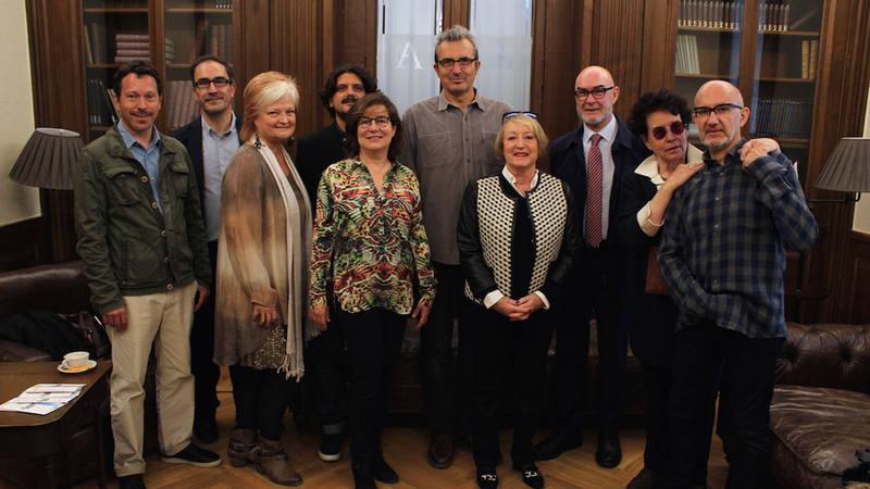 Participantes en las jornadas de 'Cine y Educación' en la Academia de Cine.
