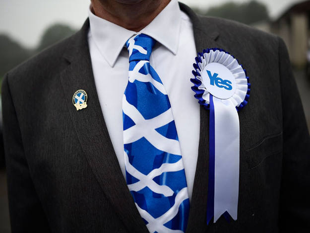 Un partidario de la independencia de Escocia