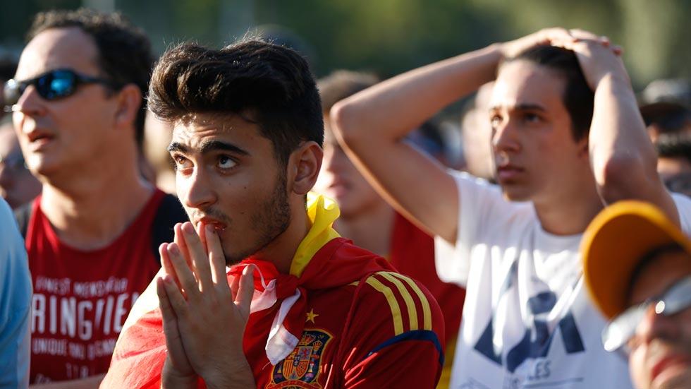 El partido se ha seguido por decenas de pantallas en España