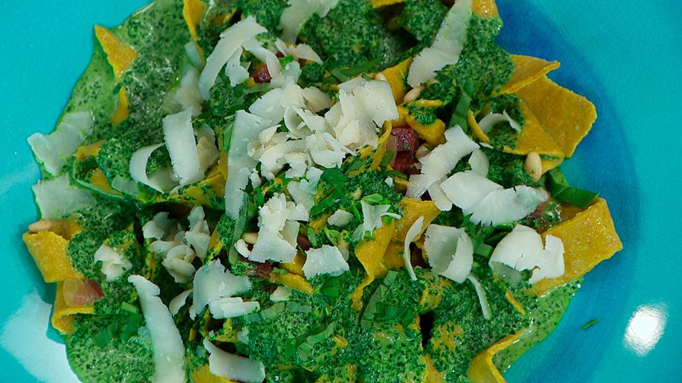 Torres en la cocina - Pasta de quinoa con crema de espinacas