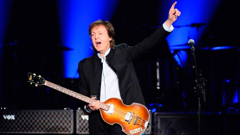 Paul McCartney actuando en Madrid en 2016