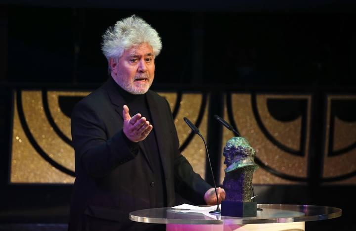 Pedro Almodovar en la gala de los Goya 2015