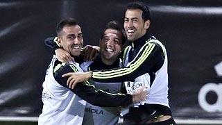 Pedro, Morata y Callejón se disputan un puesto junto a Alcácer