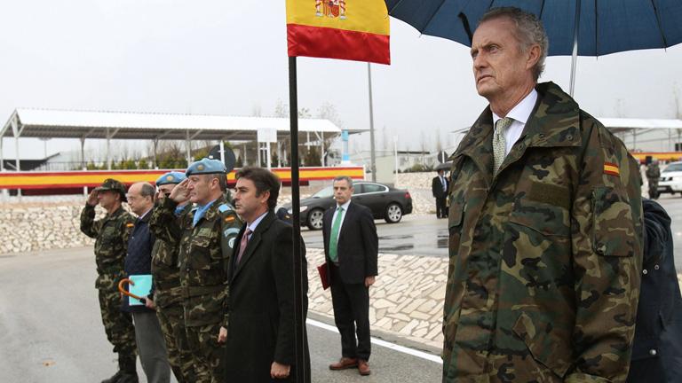 Pedro Morenés visita la base de Marjayún en Líbano