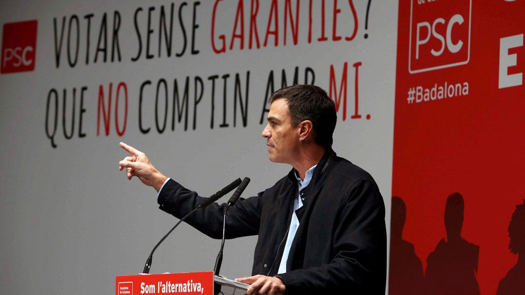 Pedro Sánchez vuelve a Cataluña, su tercera visita en plena crisis soberanista