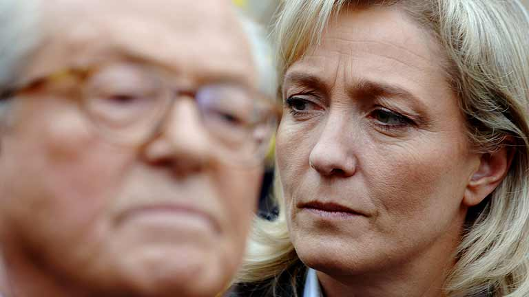 Pelea entre Marine Le Pen y su padre por unas declaraciones racistas