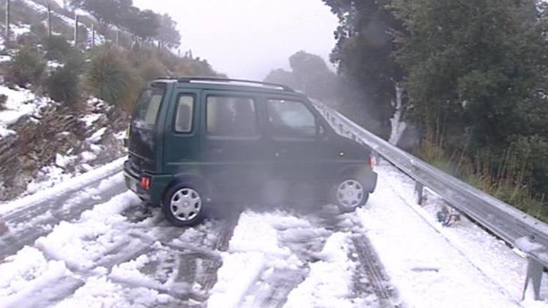 Aumentar la precaución en la carretera con el temporal de frío