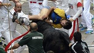 Peligrosísimo sexto encierro de San Fermín 2013, de los toros de El Pilar