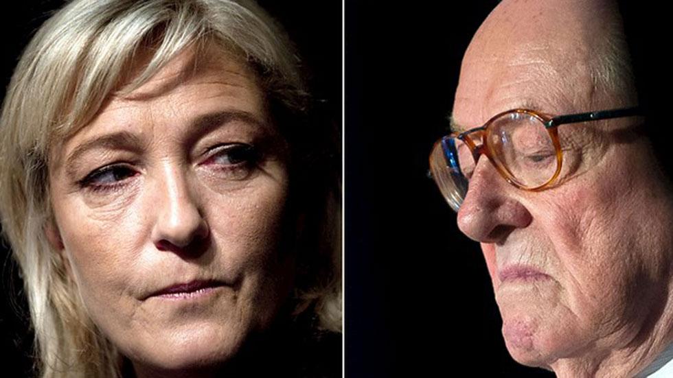 """Le Pen carga contra su hija y asegura que sería """"escandaloso"""" que se convirtiera en presidenta"""