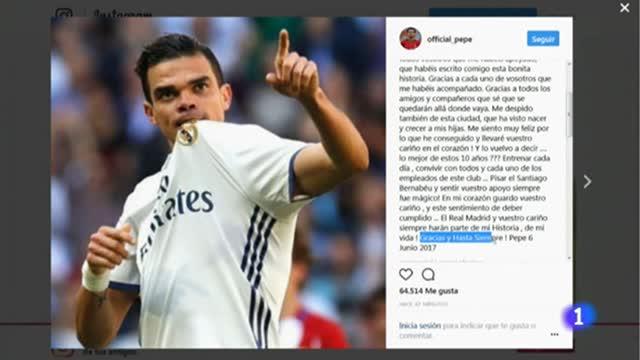 Pepe se despide del Madrid con una emotiva carta