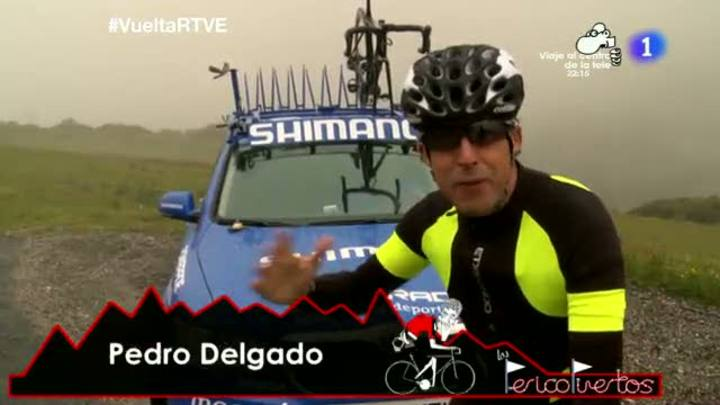 El comentarista de TVE vuelve a subirse a la bicicleta para escalar las ascensiones más duras de la Vuelta ciclista a España.