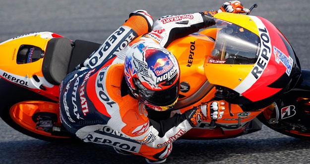 El piloto de Honda, Casey Stoner, saldrá desde la 'pole' en el GP de Catalunya.