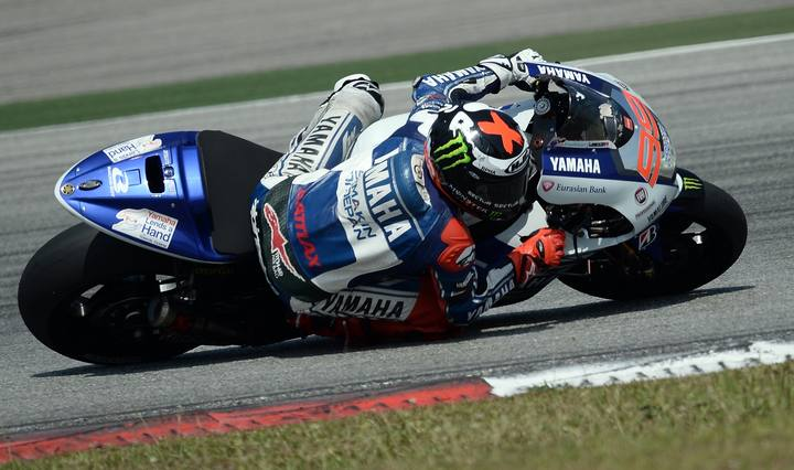 El piloto de Yamaha, Jorge Lorenzo.