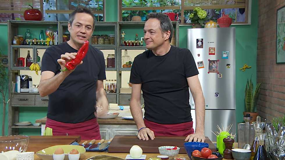 Torres en la cocina - Pimientos con queso y arroz con boquerones