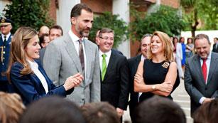 Pitos y gritos contra los príncipes, Wert y Cospedal en la inauguración del curso escolar