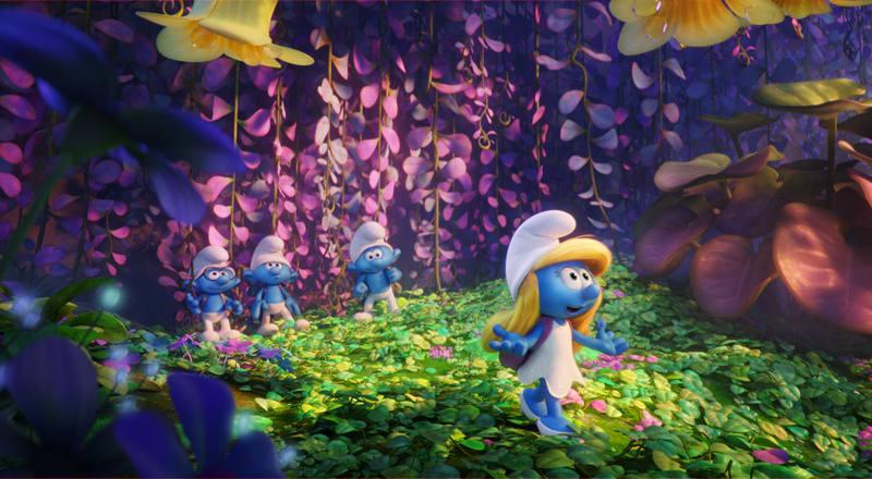 Pitufina es la protagonista de esta aventura en la que los pitufos descubrirán un nuevo mundo