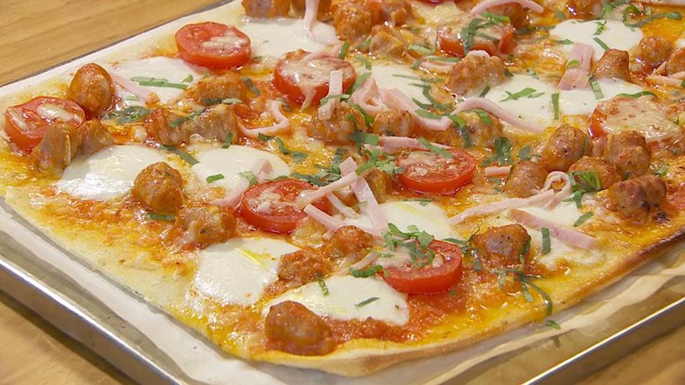 Torres en la cocina -  Pizza casera