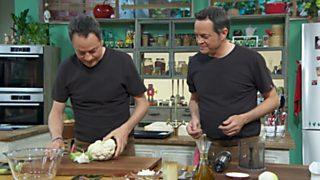 Torres en la cocina - Pizza de coliflor y costilla de cerdo