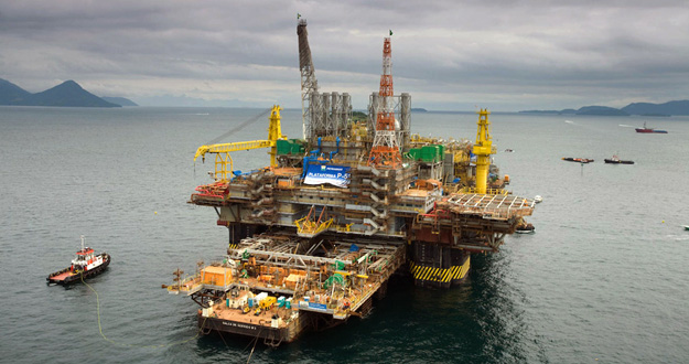 Plataforma petrolífera de Petrobras en Angra dos Reis, 180 kilómetros al sur de Río de Janeiro