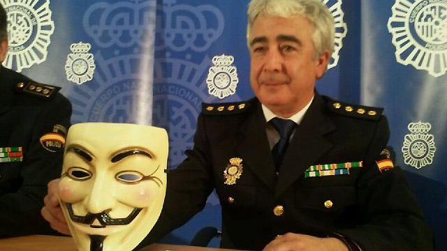 La Policía Nacional explica la detención de la 'cúpula' de Anonymous en España