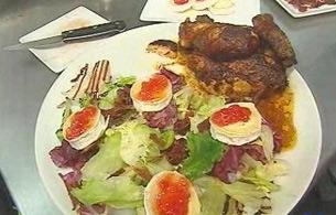 España Directo - Pollo asado con queso de cabra