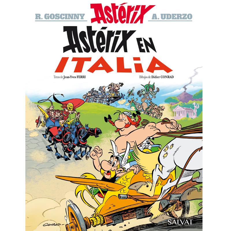 Portada de 'Astérix en Italia'