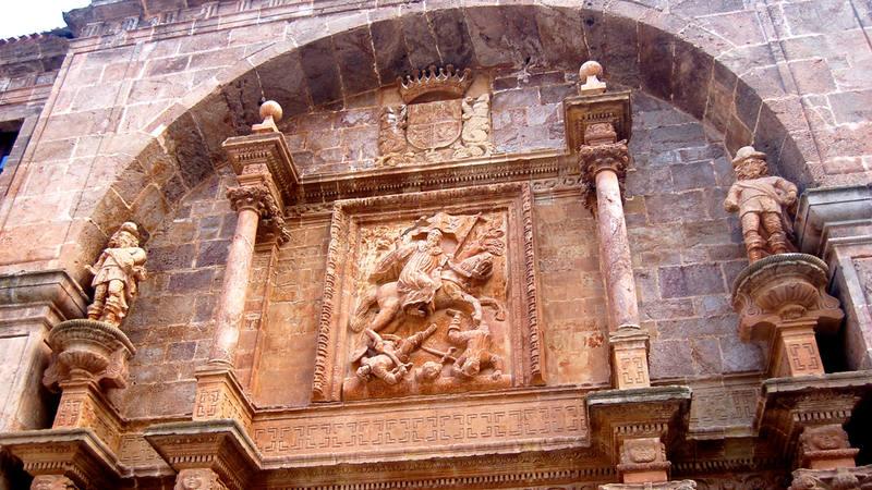 Portada barroca del siglo XVII del Monasterio de Yuso