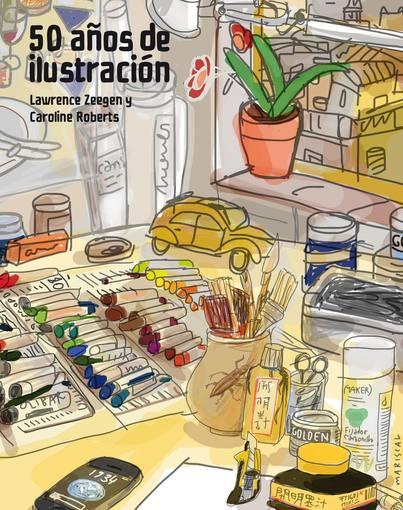 Portada del libro '50 años de ilustración', de Javier Mariscal