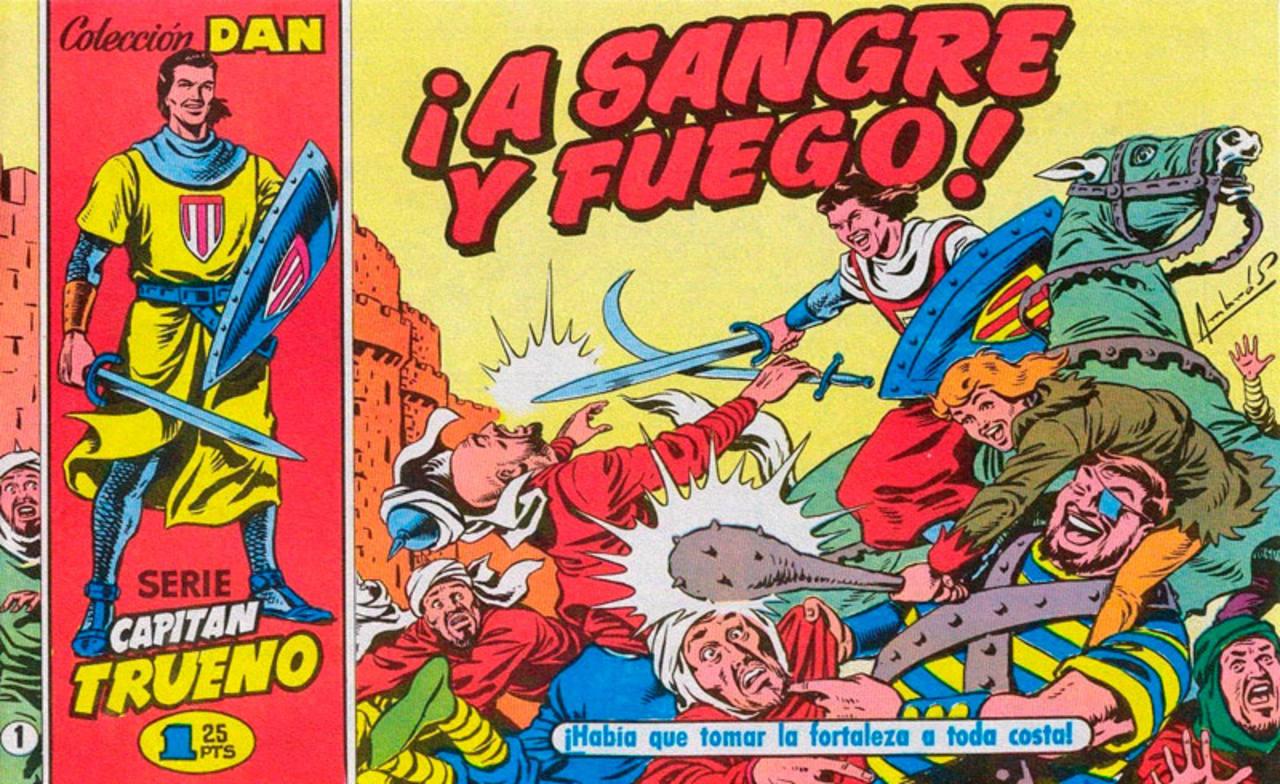 Portada del primer cómic de 'El Capitán Trueno'