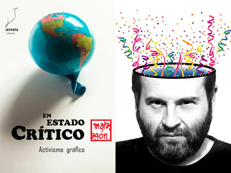 Portada de 'En estado crítico' y su autor, José Rubio Malagón