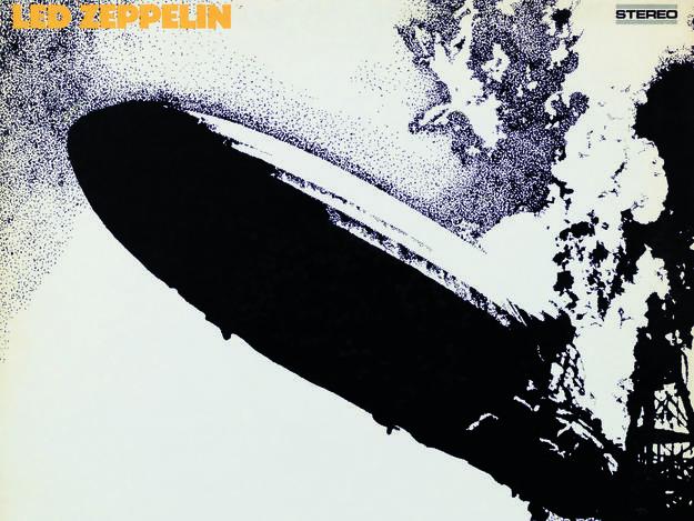 Portada de 'Led Zeppelin' (1969), diseñada por George Hardie.