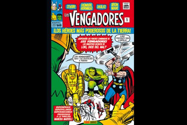 Portada de 'Marvel Gold: La llegada de los Vengadores', que recoge los primeros números de la colección