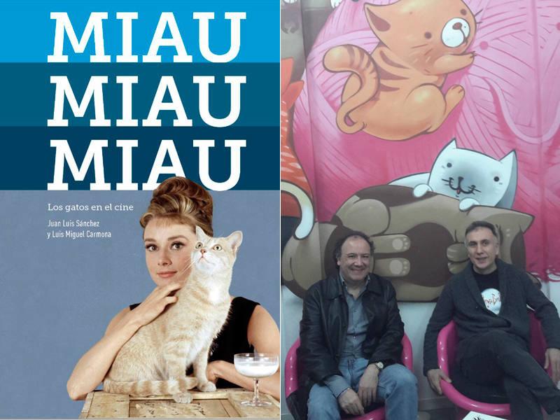 Portada de 'Miau, miau, miau' y sus autores, Luis Miguel Carmona y Juan Luis Sánchez