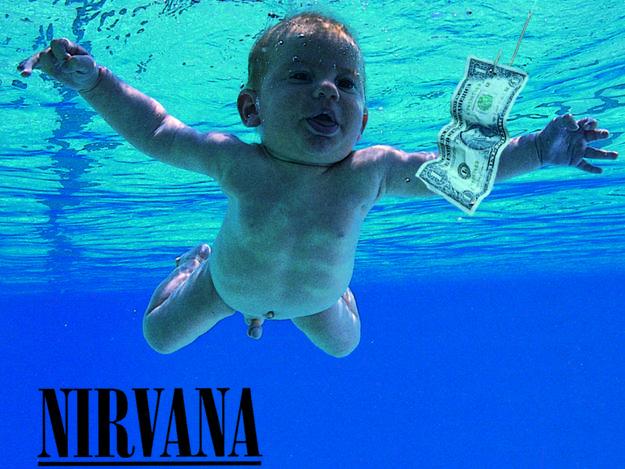 Portada de 'Nevermind' (1991), de Nirvana, con foto de Kirk Weddle.