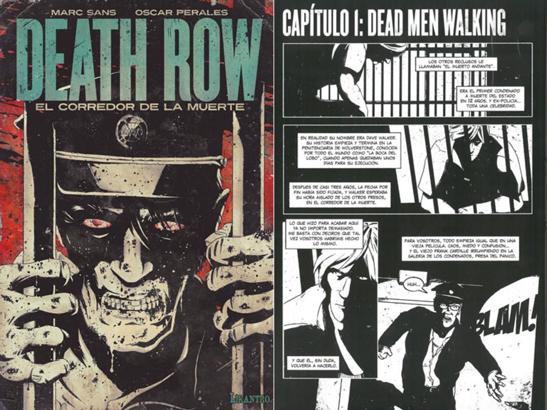 Portada y página de 'Death Row'