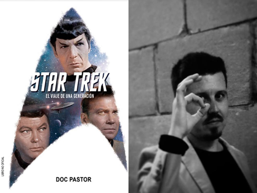Portada de 'Star Trek: El viaje de una generación', y su autor, Doc Pastor