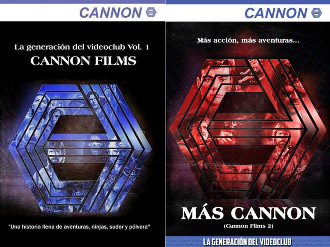 Portadas de los libros 'Cannon Films' y 'Más Cannon Films'