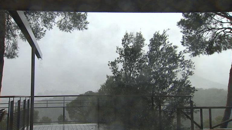 Precipitaciones fuertes en el norte de la Península y Baleares