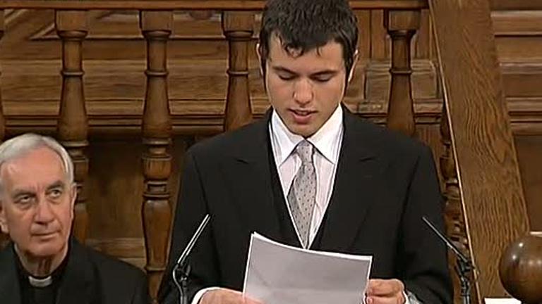 Premio Cervantes - Discurso de Cristóbal Ugarte, nieto del poeta Nicanor Parra