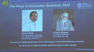 Dos economistas estadounidenses comparten este año el Premio Nobel de Economía