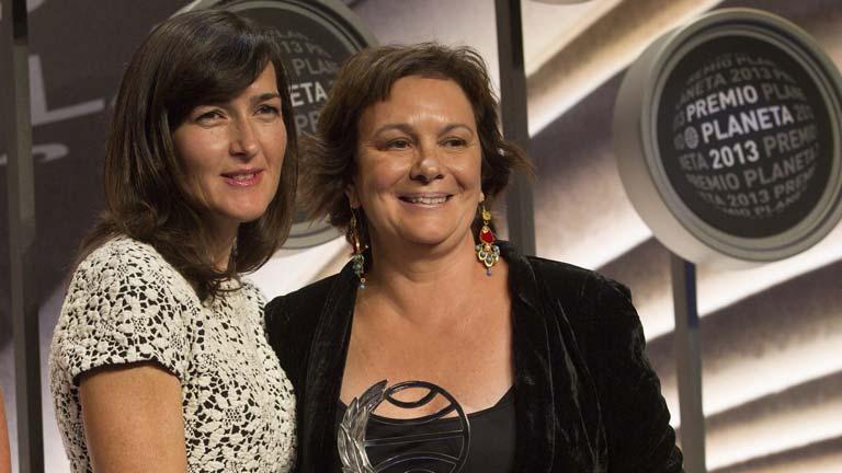 Clara Sánchez y Ángeles González Sinde ganadora y finalista, respectivamente, de los premios Planeta 2013