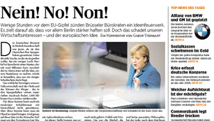 La prensa alemana trata la cumbre europea