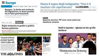 La prensa internacional recoge el triunfo del PP y las dificultades para formar gobierno